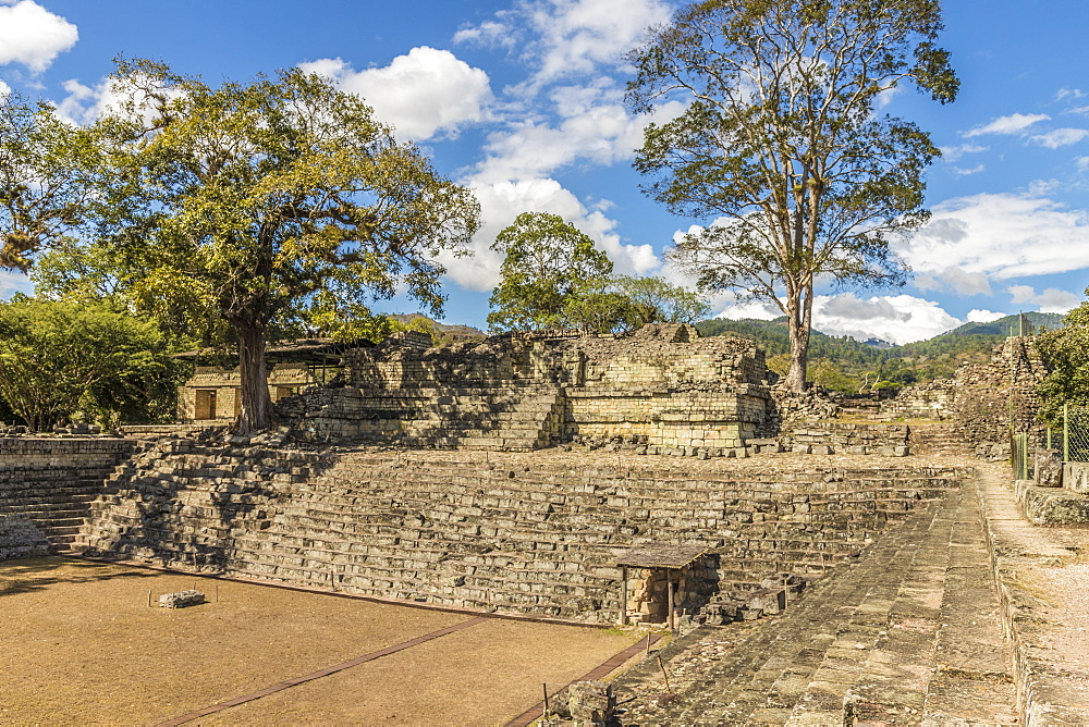 Temple 22 in East Court in Copan Ruins, UNESCO World Heritage Site, Copan, Honduras, Central America