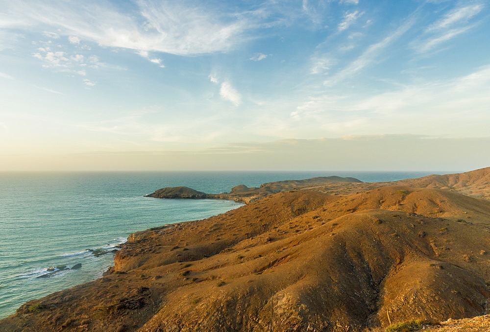 The view from Ojo Agua viewpoint in Cabo de la Vela, Guajira, Colombia, South America.