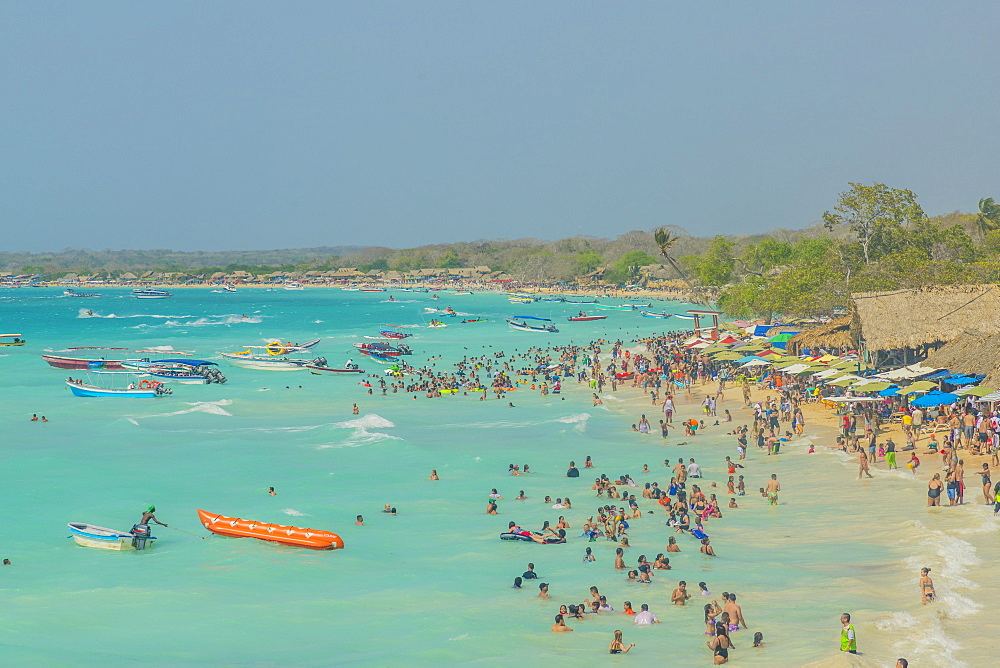 Playa Blanca beach in Cartagena, Colombia, South America