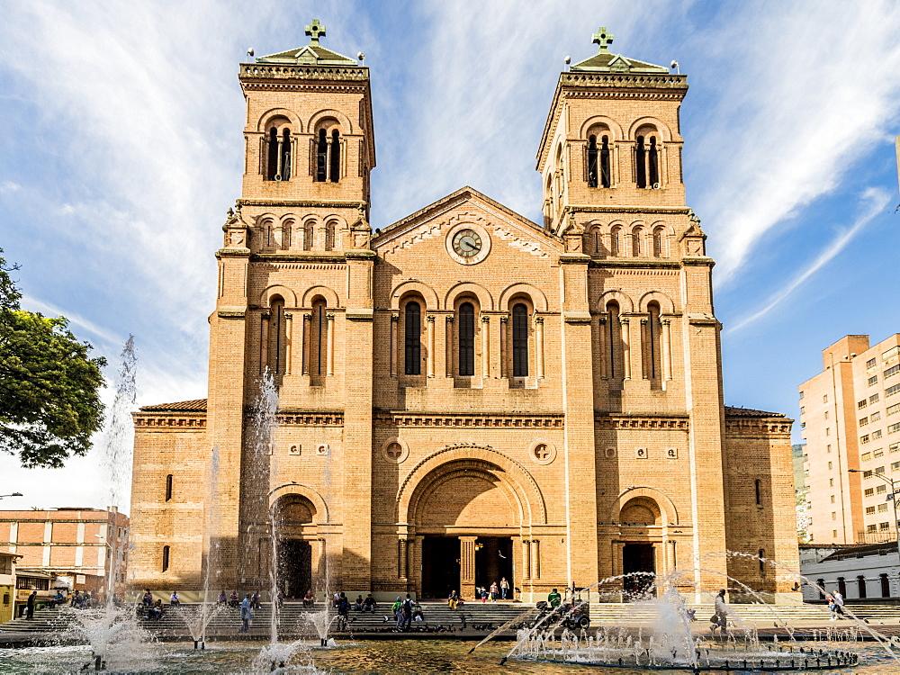 The Metropolitan Cathedral of Medellin, in Medellin, Colombia, South America.