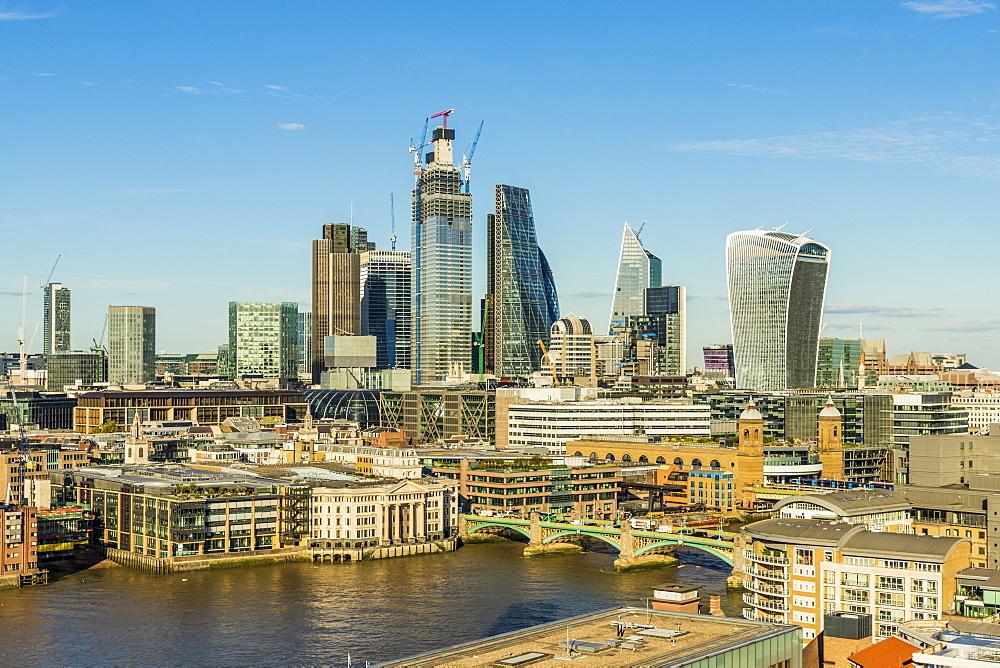 The City of London skyline, in London, United kingdom, Europe.