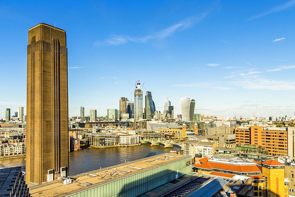 The London skyline in London, United kingdom, Europe.
