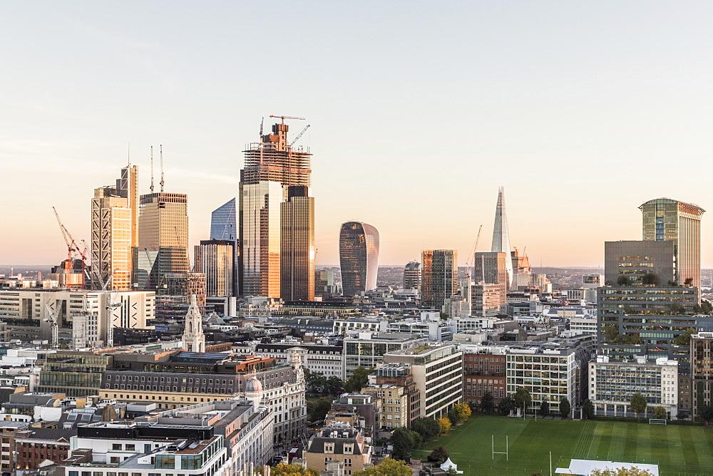 The City of London skyline in London, England, United Kingdom, Europe. - 1297-398