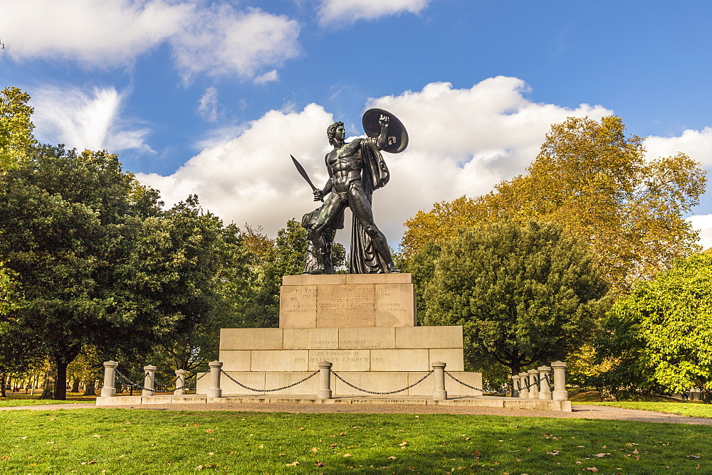 The Achilles statue in Hyde Park in London, England, United Kingdom, Europe. - 1297-402