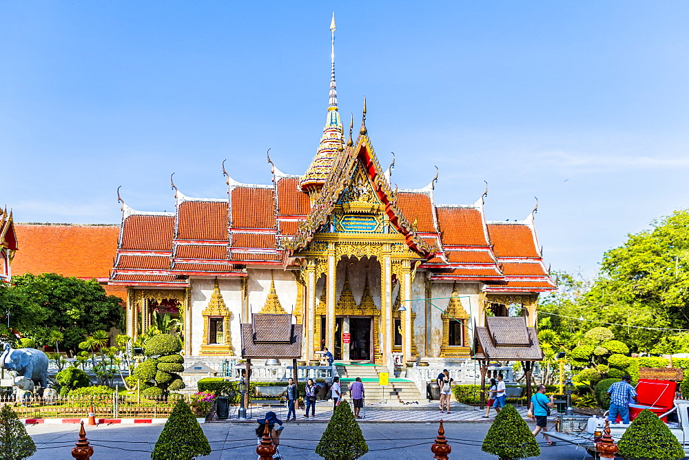 Wat Chalong Temple in Phuket, Thailand, Southeast Asia, Asia