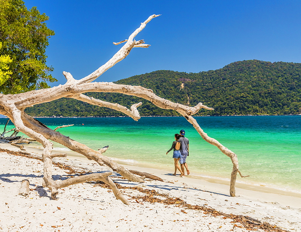 The beach on Ko Rawi island in Tarutao Marine National Park, in Thailand, Southeast Asia, Asia.