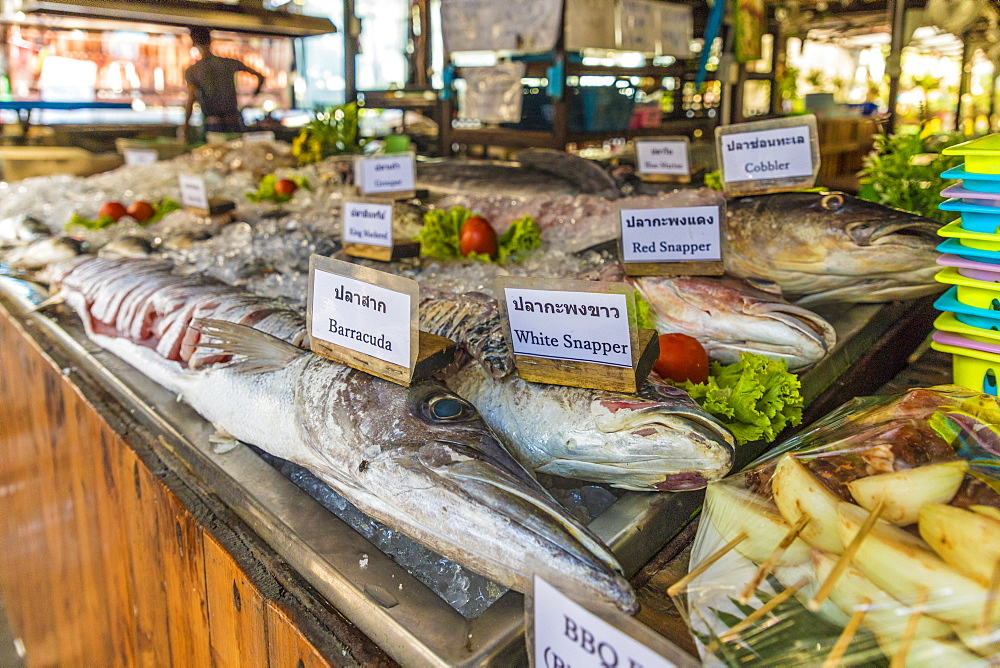 Seafood on display in Ko Lipe, Tarutao National Marine Park, Thailand, Southeast Asia, Asia.