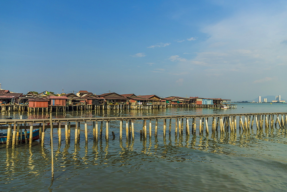 A view of a clan jetty, in George Town, Penang Island, Malaysia, Southeast Asia, Asia