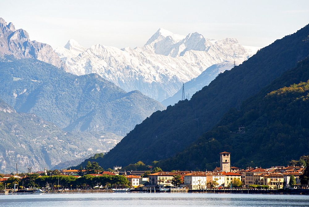 Pisogne and Mount Adamello. Iseo lake in Lombardy district, Brescia province in Italy. - 1299-117