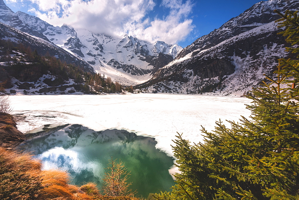 Aviolo Lake in Adamello Park, Vezza d'Oglio, Brescia province, Lombardy, Italy, Europe - 1299-25