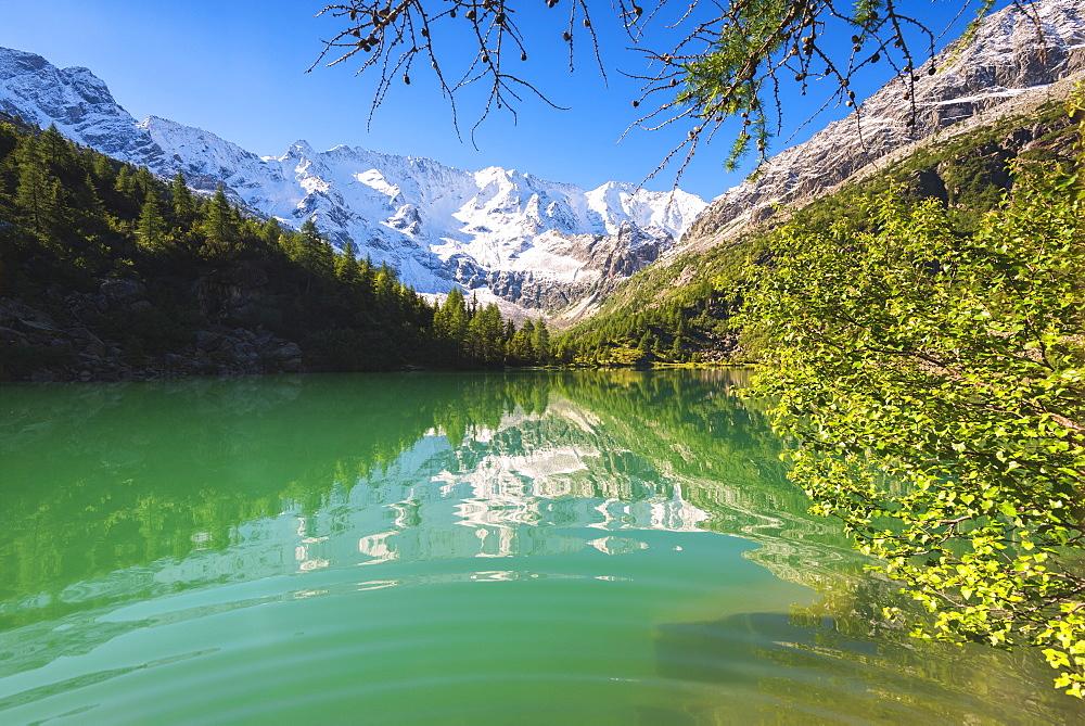 Aviolo Lake in Adamello Park, Val Camonica, Brescia province, Lombardy, Italy, Europe - 1299-6