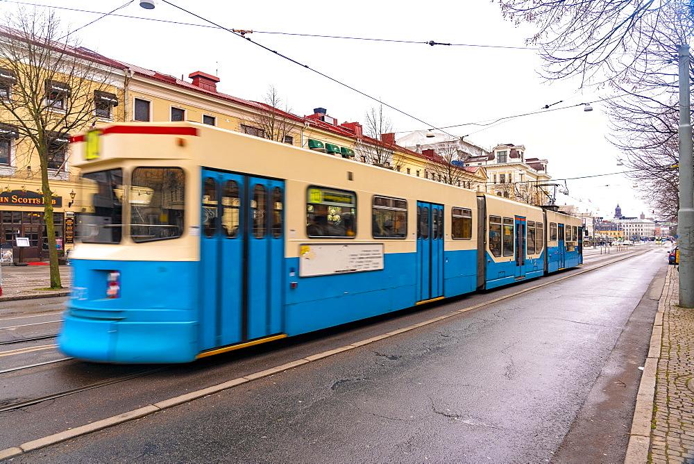 Ostra Hamngatan at the city centre of Goteborg (Gothenburg), Vastra-Gotaland County, Sweden, Scandinavia, Europe