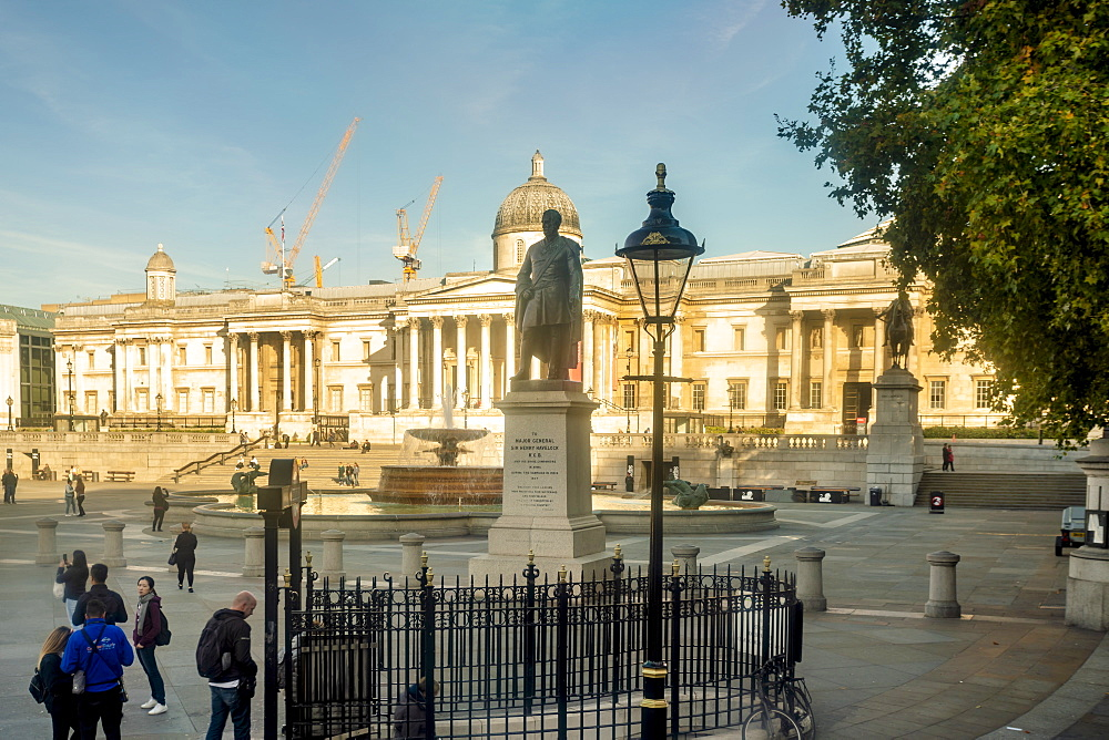 Trafalgar Square with sir henry havelock statue in the morning - 1300-170