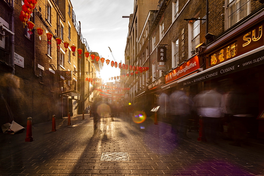 Long exposure of China town at the afternoon in London near Piccadilly Circus - 1300-179