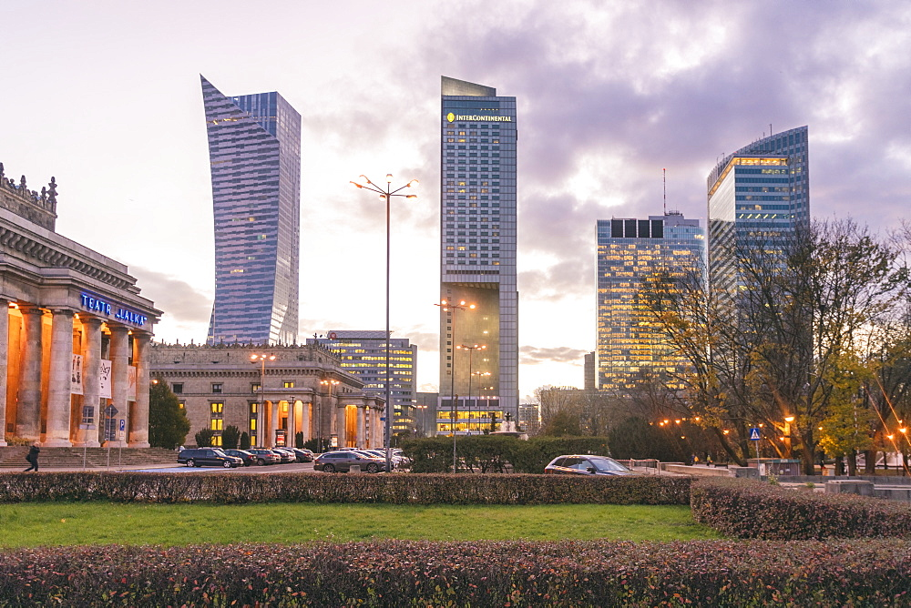 Modern towers at Śródmieście or downtown district, Warsaw - 1300-181