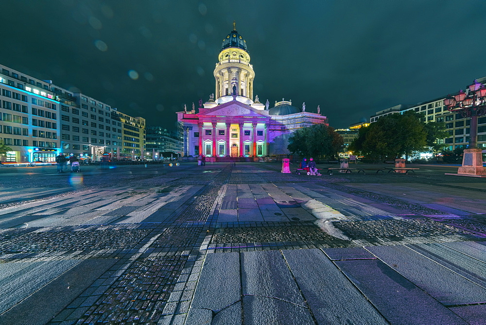 The french Dome or Cathedral at Gendarmenmarkt in Berlin at night - 1300-198