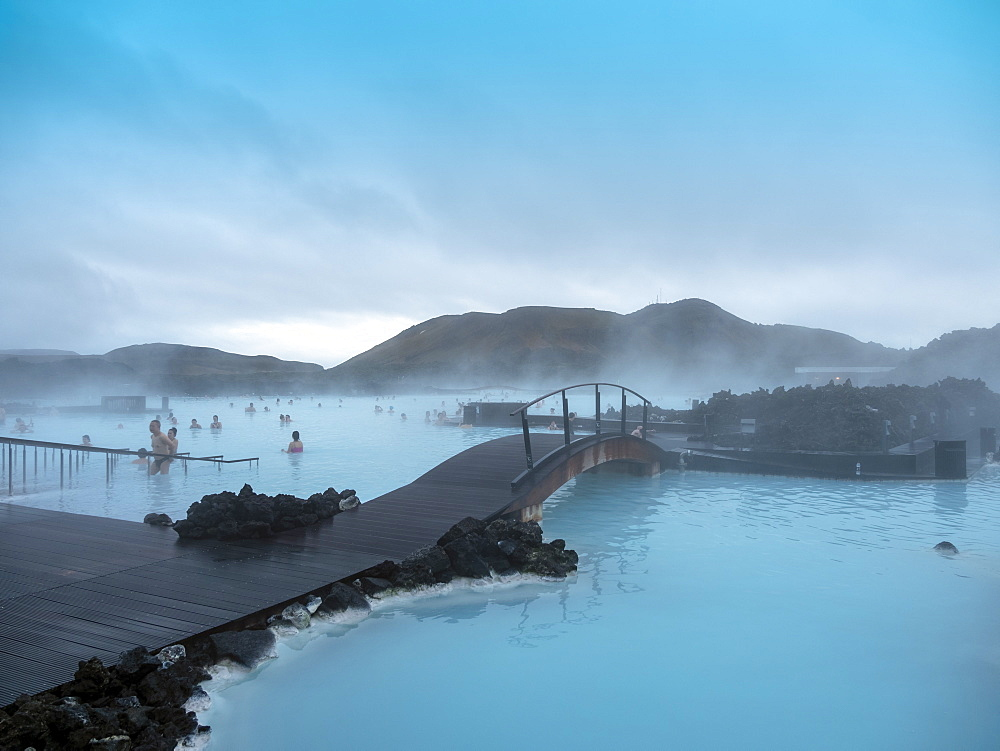 Blue Lagoon at Keflavik close to Reykjavik, Iceland, Polar Regions