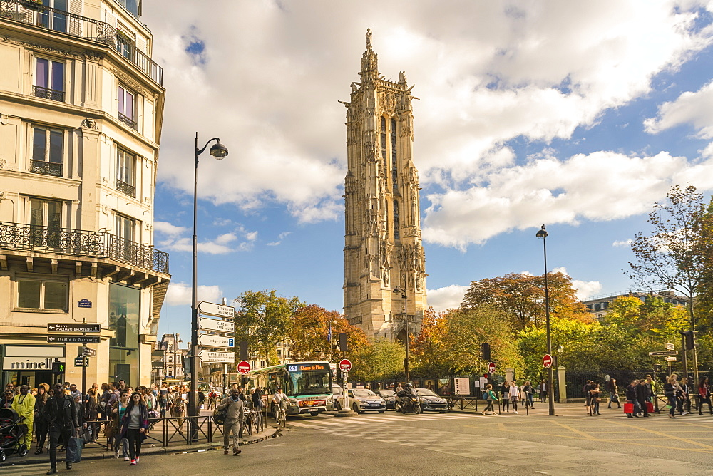 Square de la Tour Saint-Jacques, 4th Arrondissement, Paris, France, Europe