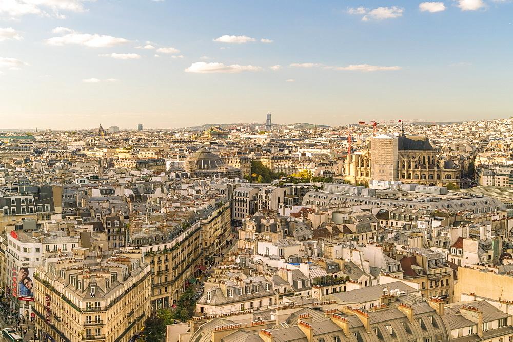 View from Square de la Tour Saint-Jacques towards 2nd Arrondissement, Paris, France, Europe - 1300-277