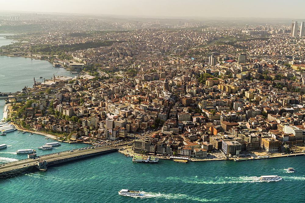 View of the European part of Istanbul from above, Istanbul, Turkey, Europe