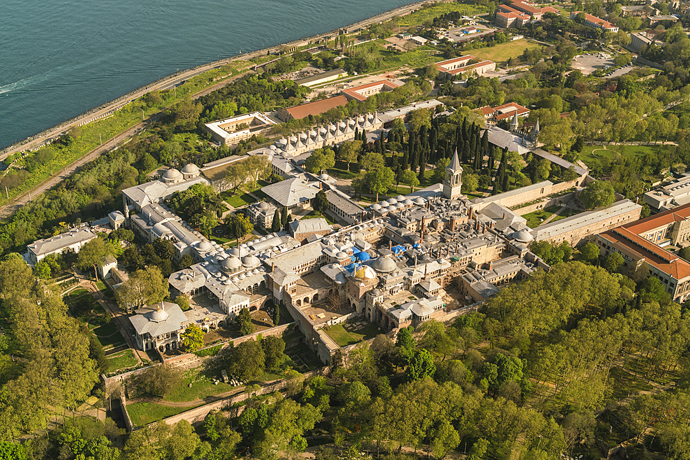 Topkapi Palace, UNESCO World Heritage Site, from above, Istanbul, Turkey, Europe