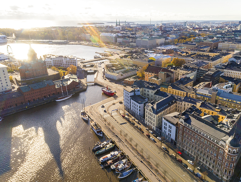 Helsinki city center from above