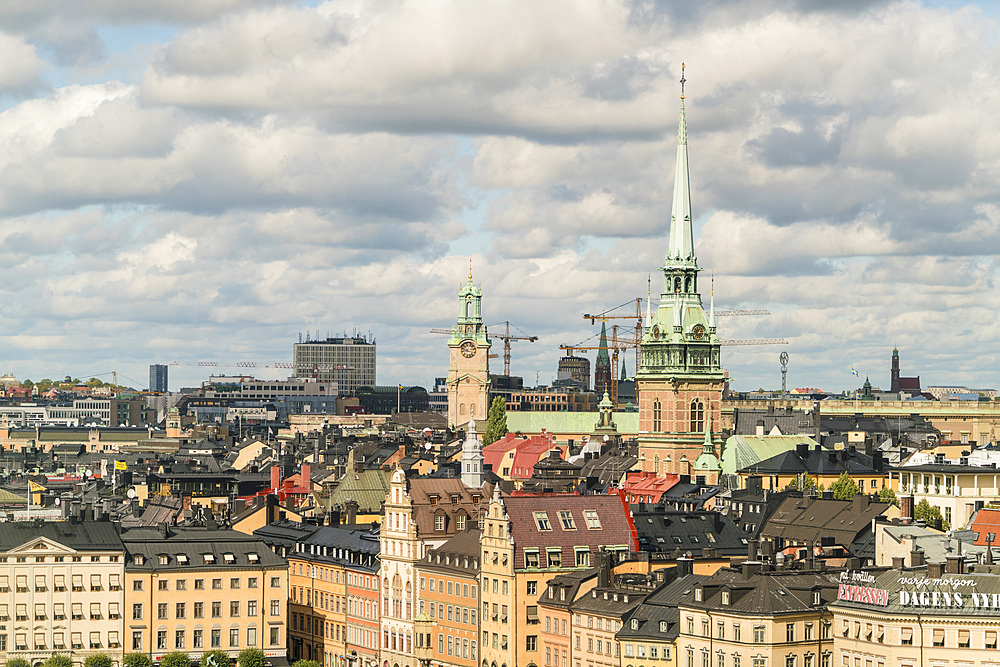 Skyline of Stockholm, Sweden, Scandinavia, Europe