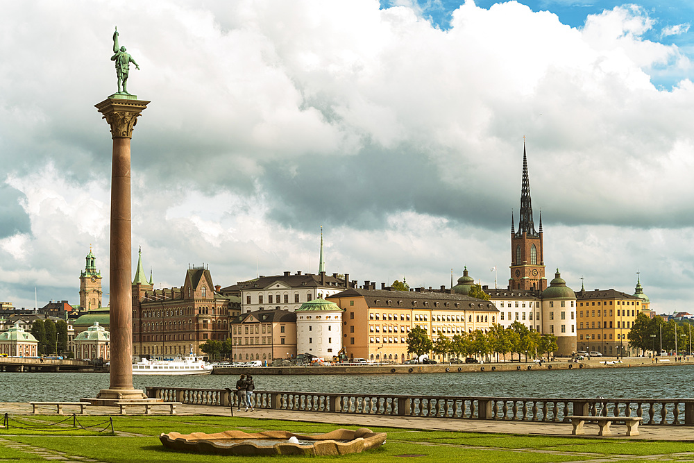 Riddarholmen from the townhall's garden, Stockholm, Sweden, Scandinavia, Europe