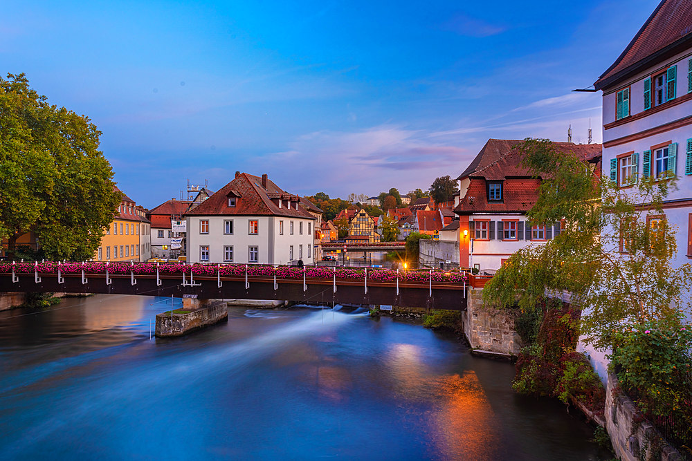 Old historic building on the Linker Regnitzarm. Bamberg, UNESCO World Heritage Site, Bavaria, Germany, Europe