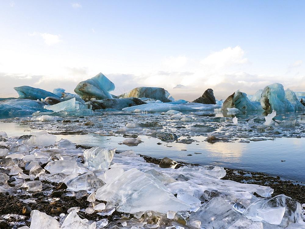 Jokulsarlon Iceberg Glacier Lagoon, Iceland, Polar Regions