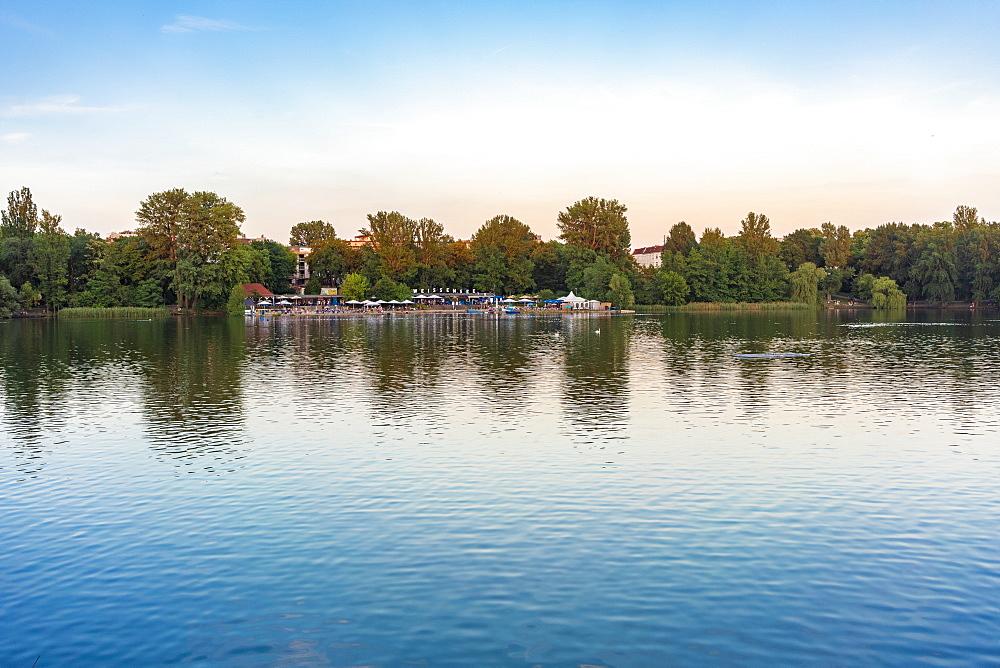 Lake Weissensee in East Berlin, Germany, Europe - 1300-432