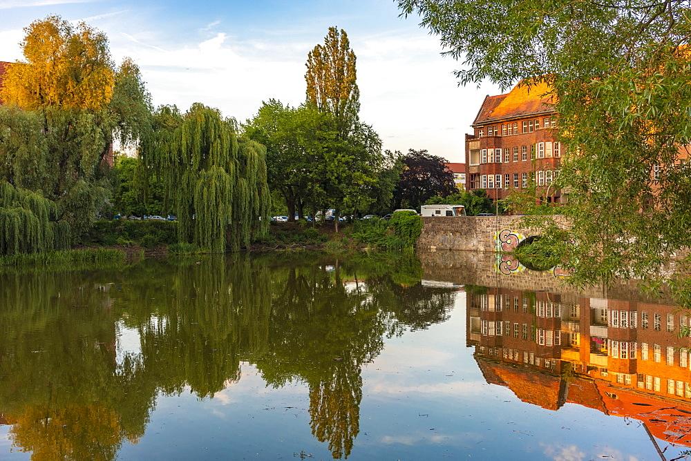 Lake Weissensee in East Berlin, Germany, Europe
