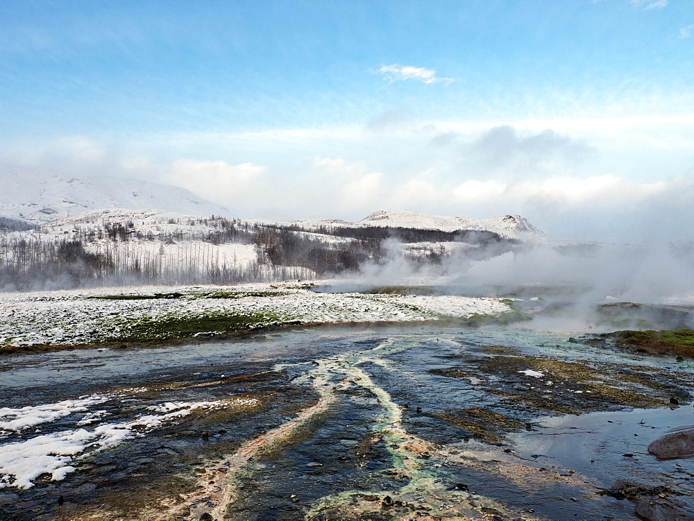 Geysir at the Golden Circle, Iceland, Polar Regions
