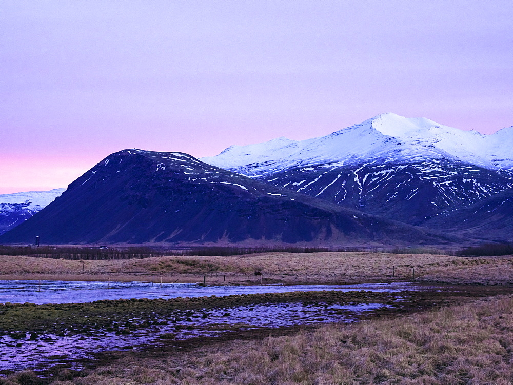 Mountains early in the morning at sunrise in the Snaefellsnes Peninsula, Iceland, Polar Regions - 1300-47