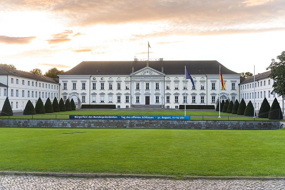 Schloss Bellevue, presidential palace in Berlin Tiergarten, Berlin, Germany, Europe