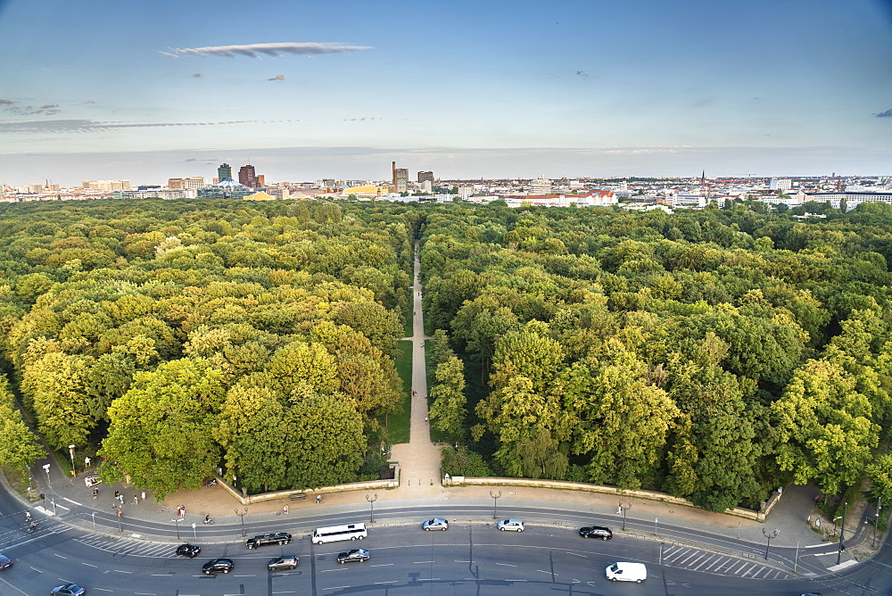 View of Berlin skyline from Siegessaule, Berlin, Germany, Europe - 1300-477