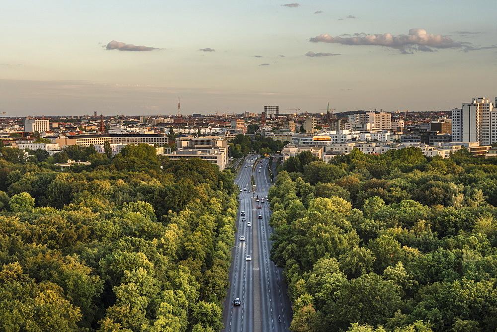 View of Berlin skyline from Siegessaule, Berlin, Germany, Europe - 1300-478