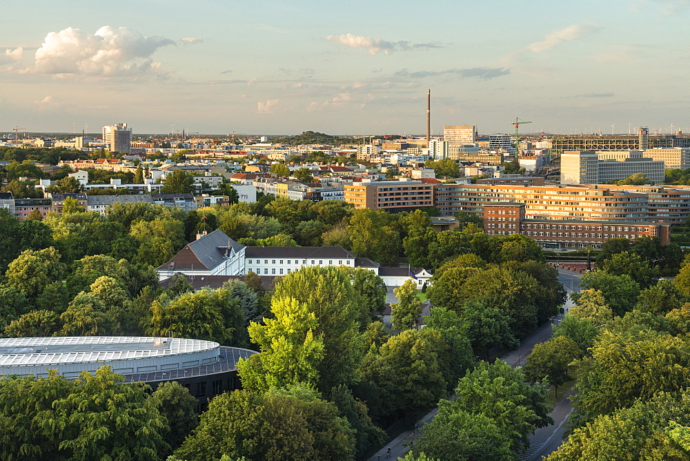 View of Berlin skyline from Siegessaule, Berlin, Germany, Europe - 1300-479