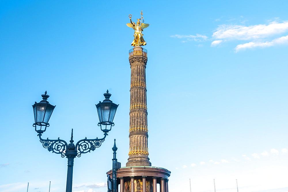 Siegessaule (Victory Column) in Berlin Tiergarten, Berlin, Germany, Europe