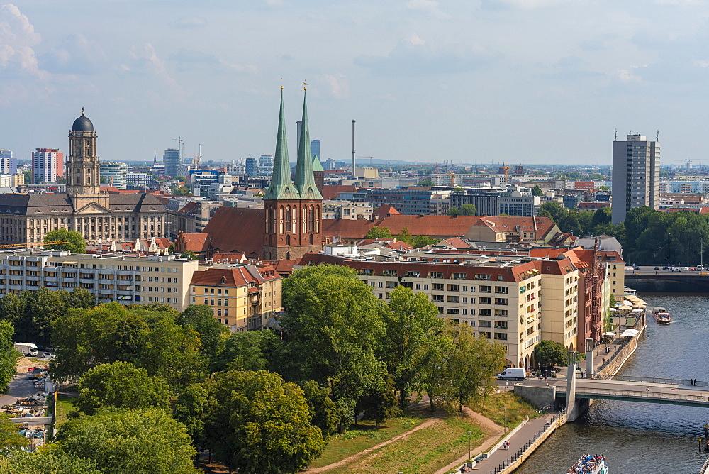 View of Nikolaiviertel (Nicolas Quarter) in Berlin, Germany, Europe - 1300-491