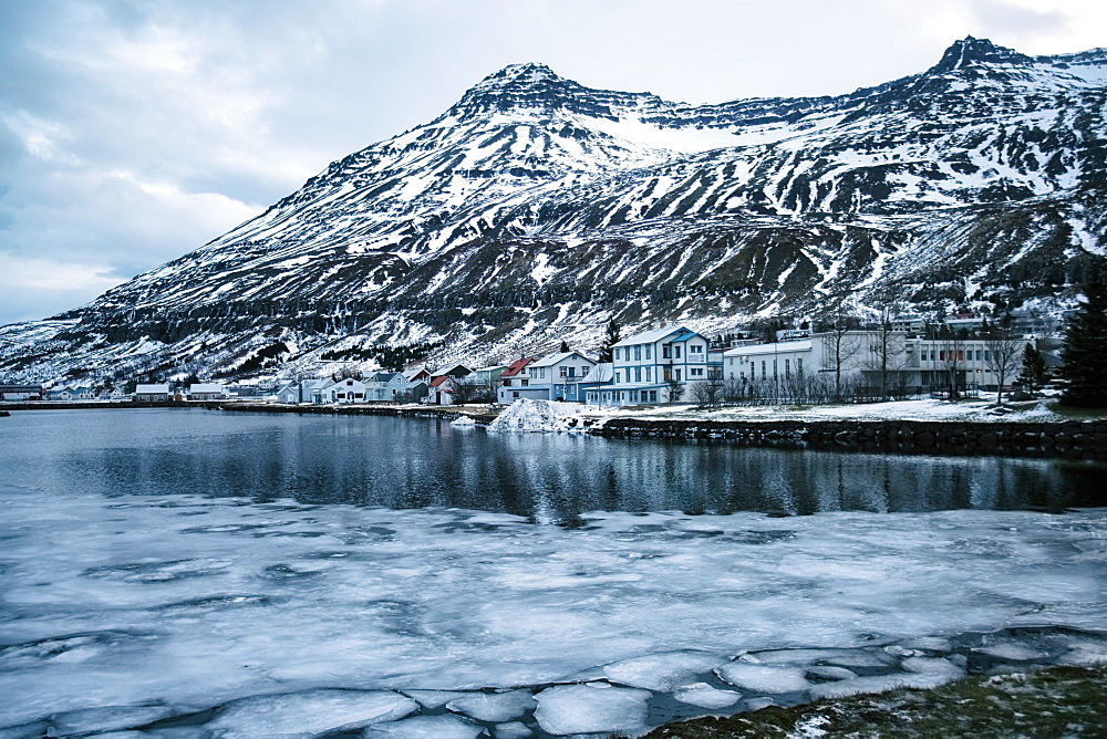 Seydisfjordur, a town and municipality in the Eastern Region of Iceland at the innermost point of the fjord of the same name, Iceland, Polar Regions