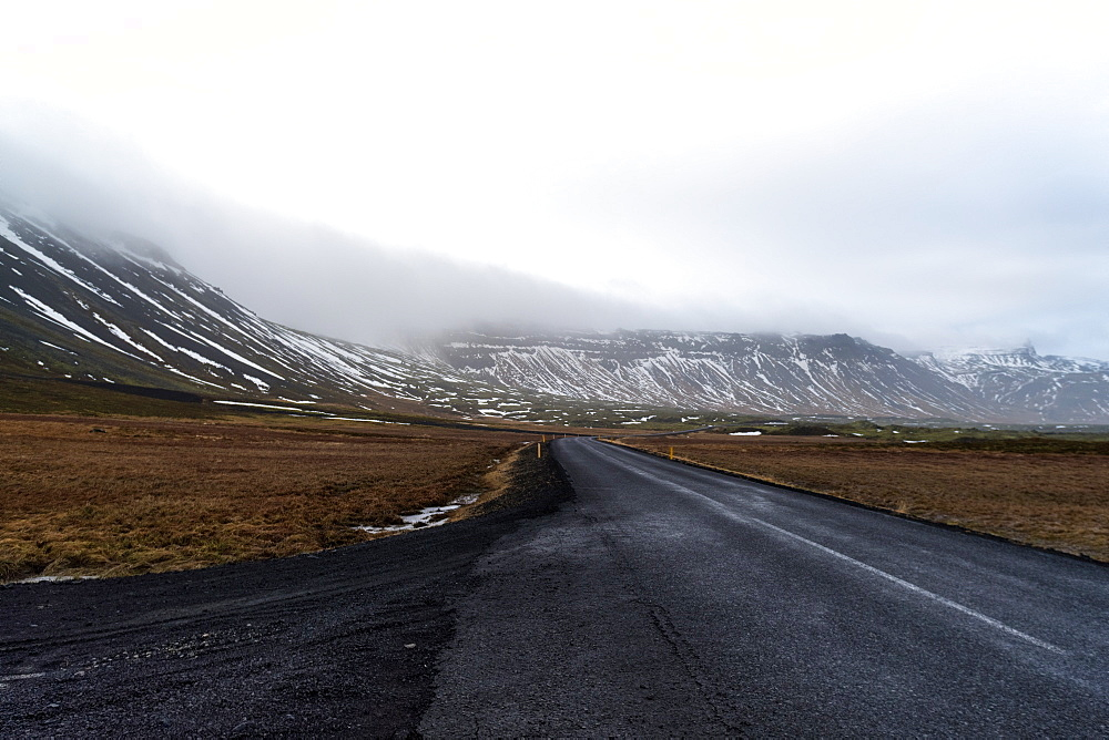 Road 54 at the peninsula above Reykjavik early in the morning, Iceland, Polar Regions - 1300-58