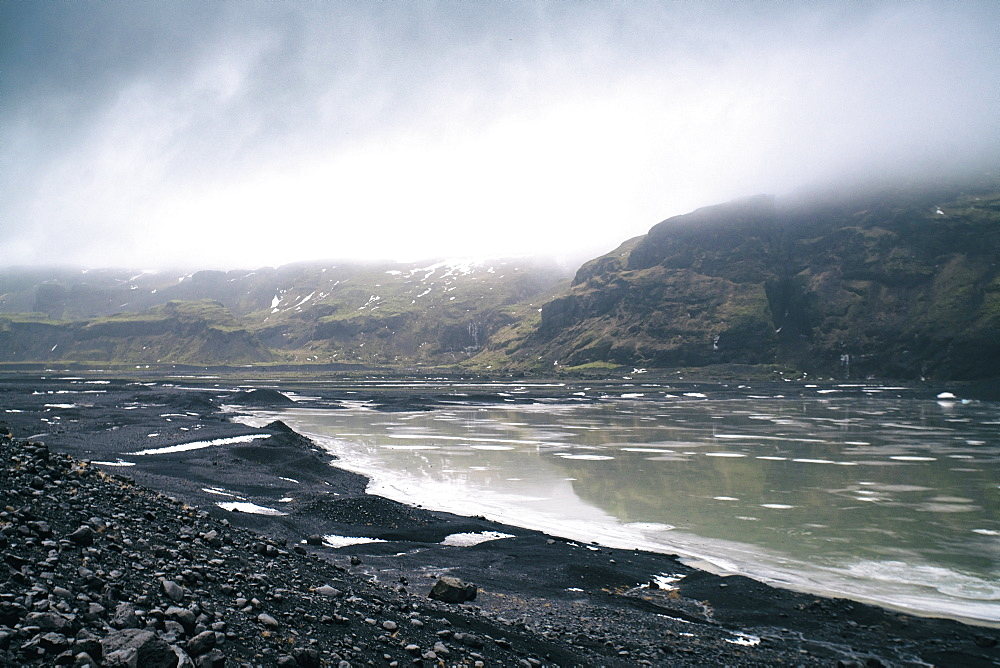 Solheimajokull Glacier in southern Iceland, between the volcanoes Katla and Eijafjallajokull, Iceland, Polar Regions - 1300-66