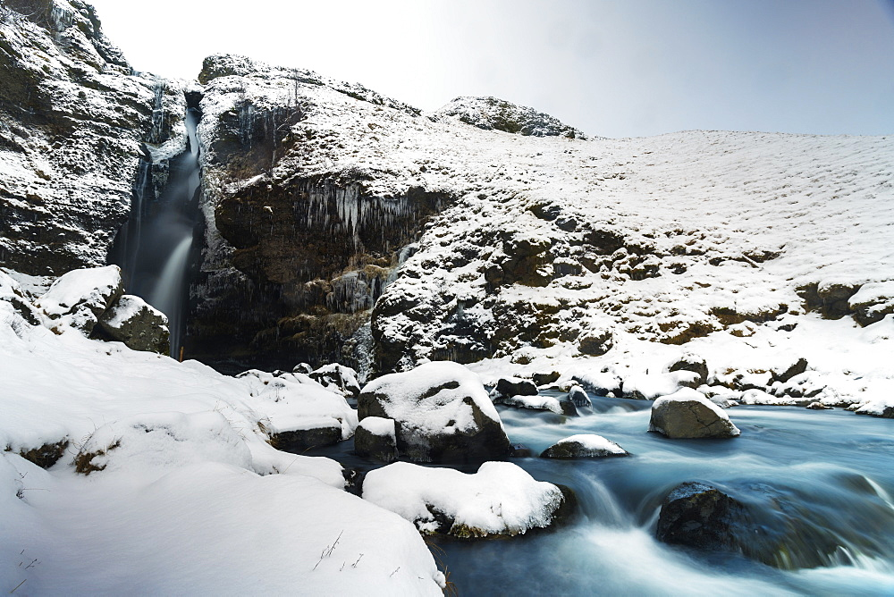 Gluggafoss waterfall in winter, Iceland, Polar Regions - 1300-71