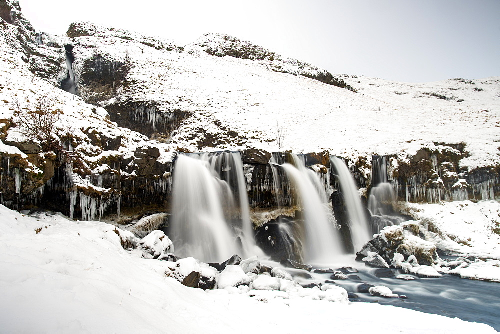 Gluggafoss waterfall in winter, Iceland, Polar Regions