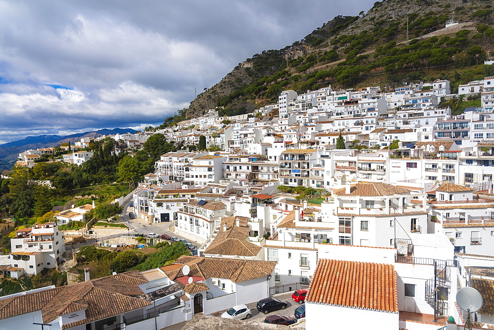 Mijas historic old white town village in Andalucia in Spain - 1300-97