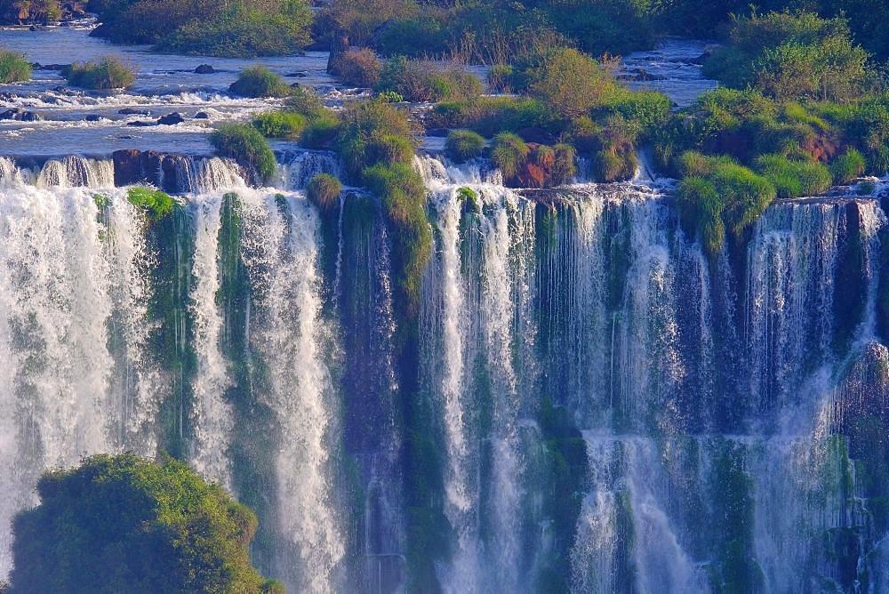 Close up of Iguazu Falls, Cataratas Do Iguacu, waterfalls of the Iguazu River, border of Brazil and Argentina, South America - 1301-58