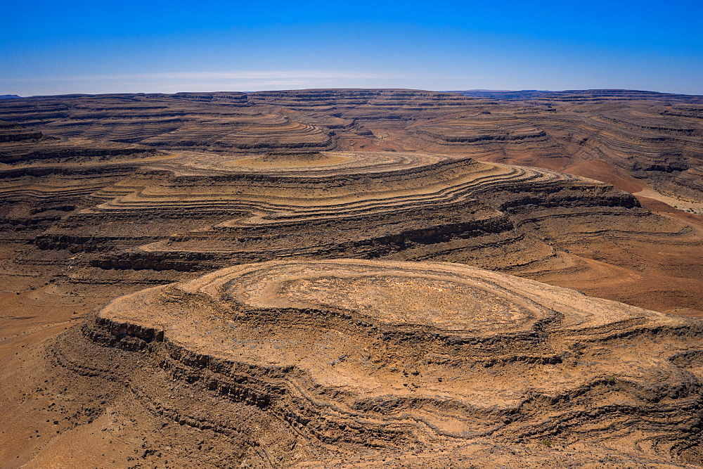 A drone shot of the Fish River Canyon, the second largest canyon in the world, Namibia, Africa - 1304-27