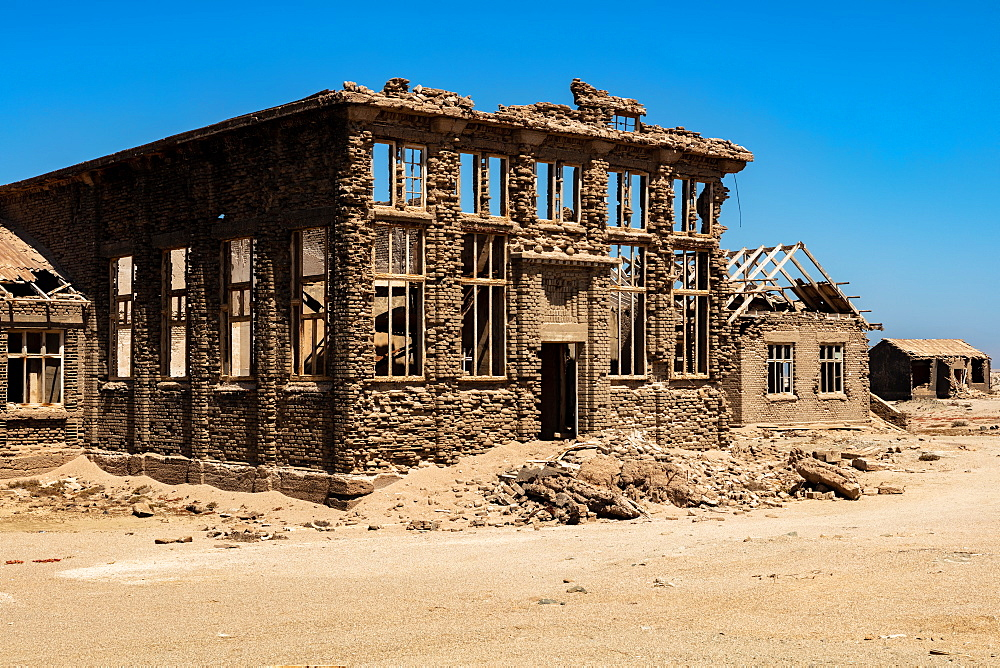 A disused Casino in the Abandoned Mining Town of Elizabeth Bay, on the coast of Luderitz around 25km from Kolmonskop, Namibia, Africa