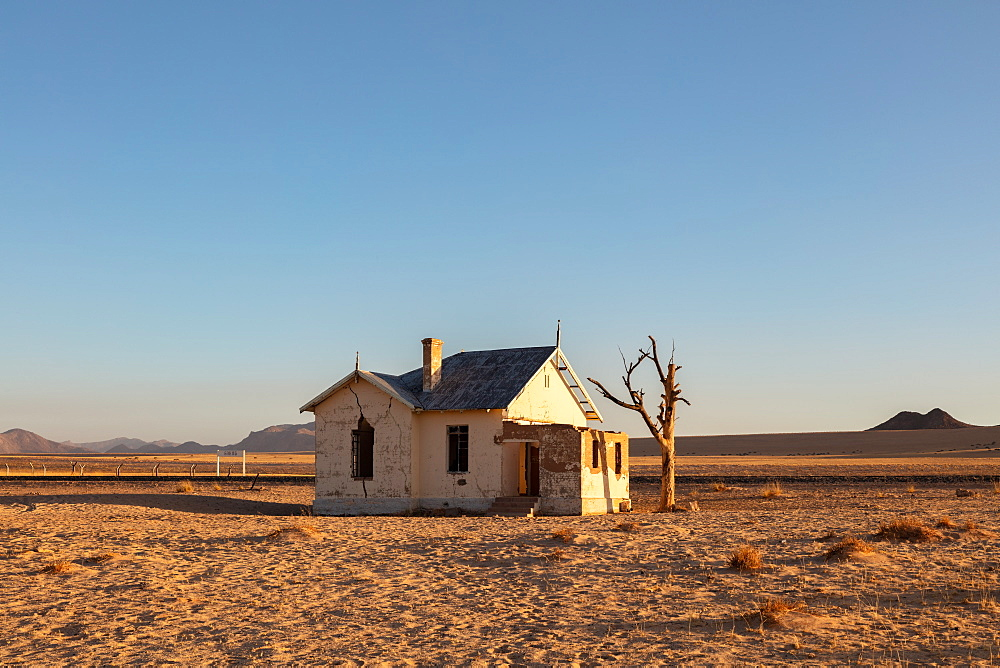 Abandoned Train Station Garub in the Luderitz/Spergbeit Diamond Area, Namibia, Africa
